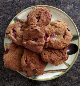 Strawberry Cookies GF, DF, LowCarb